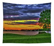 Number 4 The Landing Reynolds Plantation Golf Art Tapestry