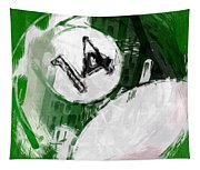 Number Fourteen Billiards Ball Abstract Tapestry