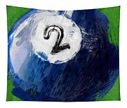 Number Two Billiards Ball Abstract Tapestry