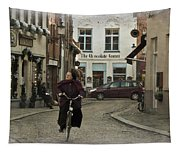 Nun On A Bicycle In Bruges Tapestry