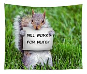 Nutty Squirrel Tapestry