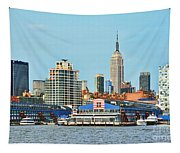Ny Skyline And Chelsea Piers Tapestry