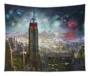 Nyc. Empire State Building Tapestry