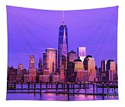 Nyc From Hoboken Tapestry