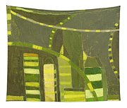Nyc In Deep Green Tapestry