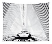 Nyc- Inside The Oculus In Black And White Tapestry