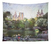 Nyc Resting In Central Park Tapestry