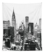 Nyc Snow Tapestry by Vivienne Gucwa