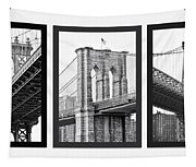 Nyc Three Bridges-east River Tapestry