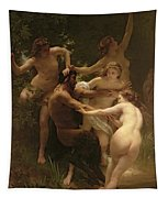 Nymphs And Satyr Tapestry