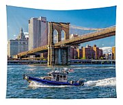 Nypd On East River Tapestry