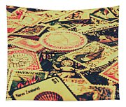 Nz Post Background Tapestry