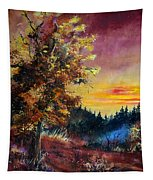 Oak At Sunset Tapestry