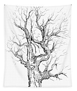 Oak Tree Abstract Study Tapestry