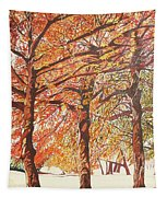 Oak Trees In The Park Tapestry