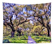 Oaks And Spanish Moss Tapestry