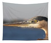 Observant Eye - Heron Portrait Tapestry