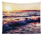 Ocean Landscape Sunrise Tapestry