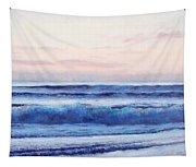 Ocean Painting 'dusk' By Jan Matson Tapestry