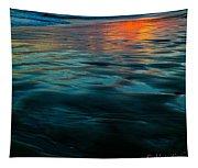 Oceanside Reflective Sunset Tapestry