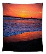 Oceanside Sunset Tapestry