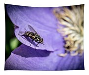 Odd Fly On Clematis Tapestry