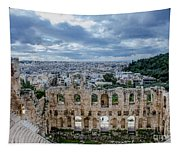 Odeon Of Herodes Atticus - Athens Greece Tapestry