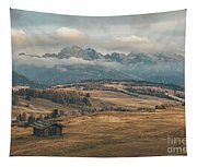 Odle Mountains - Alpe Di Siusi Tapestry