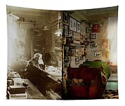 Office - Ole Tobias Olsen 1900 - Side By Side Tapestry