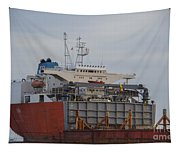 Offloading Cranes Tapestry