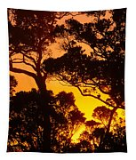 Ohia Trees At Sunset Tapestry