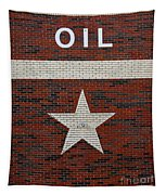 Oil And Texas Star Sign Tapestry