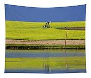 Oil Jack Reflection Saskatchewan Tapestry