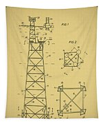 Oil Rig Patent Tapestry