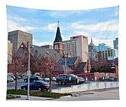 Oklahoma City Wide Angle Tapestry