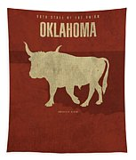 Oklahoma State Facts Minimalist Movie Poster Art Tapestry