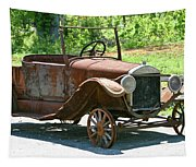 Old Antique Vehicle Tapestry
