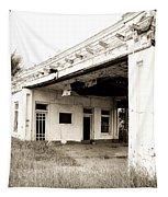 Old Art Deco Filling Station Tapestry