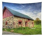 Old Barn At Dusk Tapestry