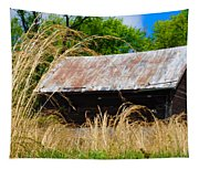 Old Barn In Roxborough Tapestry