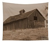 Old Barn In Washington Tapestry