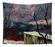 Old Barn In Winter Tapestry