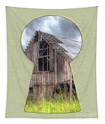 Old Barn Keyhole Tapestry
