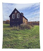 Old Barn Out In A Field Tapestry