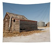 Old Barns And A Grain Bin Tapestry
