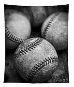 Old Baseballs In Black And White Tapestry by Edward Fielding