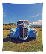 Old Blue Truck Vermont Tapestry