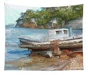 Old Boat At China Camp Tapestry