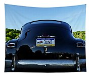 Old Car Trunk With Artistic Background Tapestry