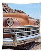 Old Cars In The Desert, Eldorado Canyon, Nevada Tapestry by Edward Fielding